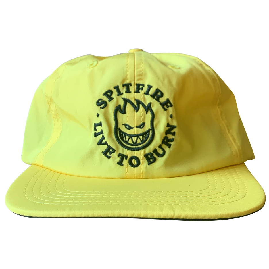 Image of Spitfire Bighead 'Live To Burn' Nylon Strapback - Yellow