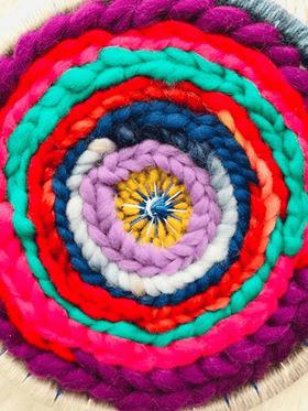 Image of Pop of Purple Circular Weaving