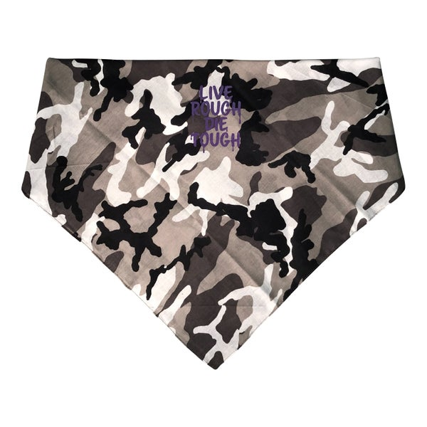 "Image of White Camo ""Grease"" Bandana"