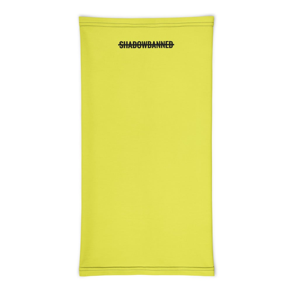 SHADOWBANNED Unisex Neck Gaiter *CHARITY* Yellow
