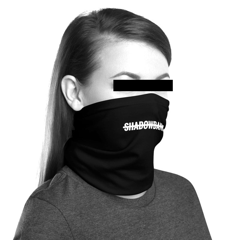 SHADOWBANNED Unisex Neck Gaiter *CHARITY* Black