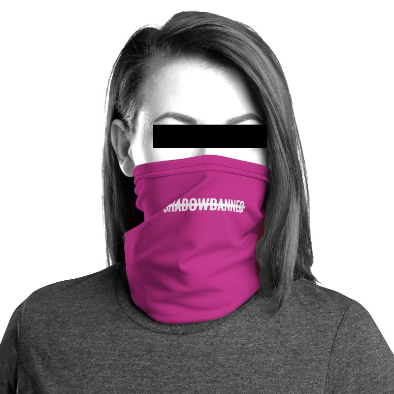 SHADOWBANNED Unisex Neck Gaiter *CHARITY* Pink