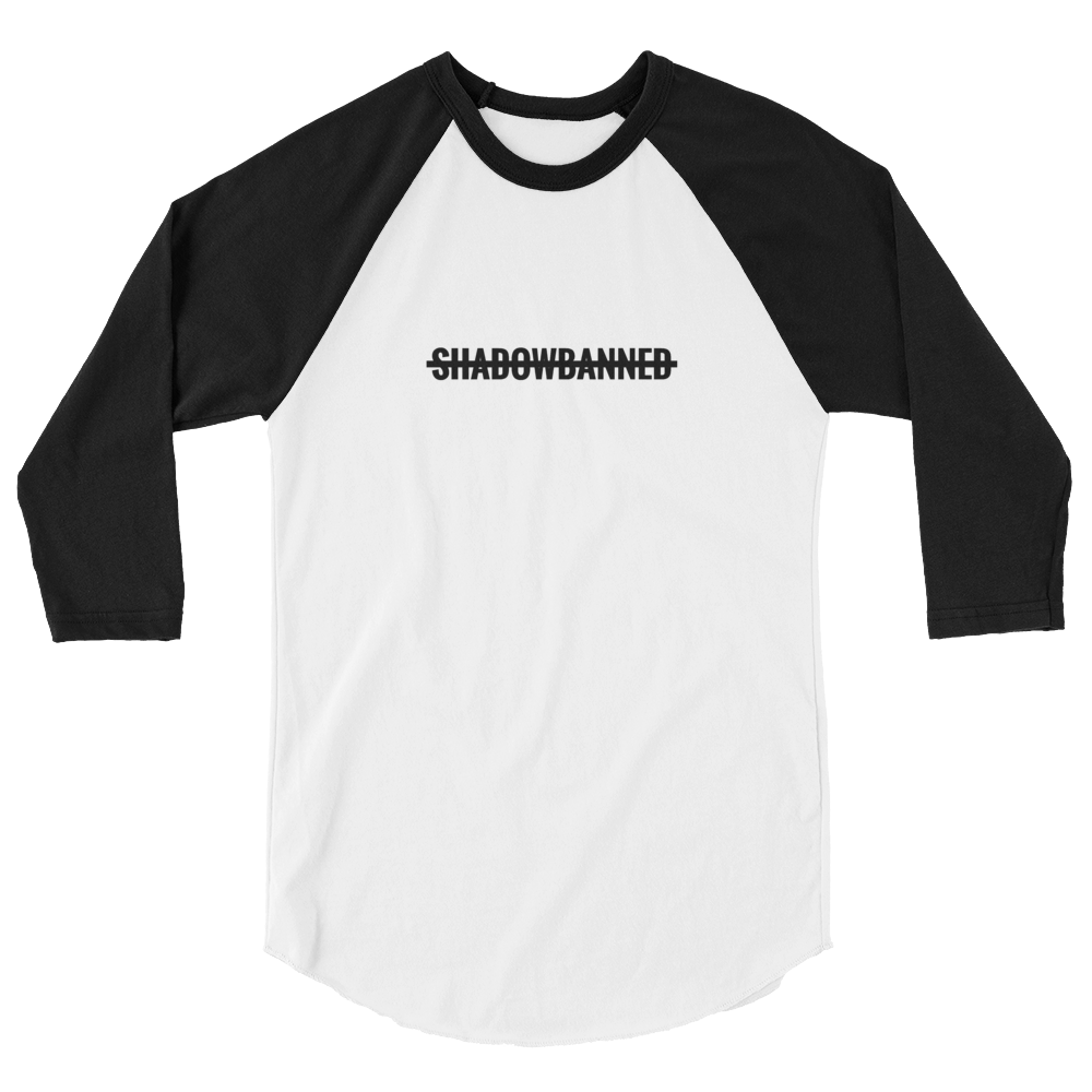SHADOWBANNED Women's 3/4 sleeve raglan shirt