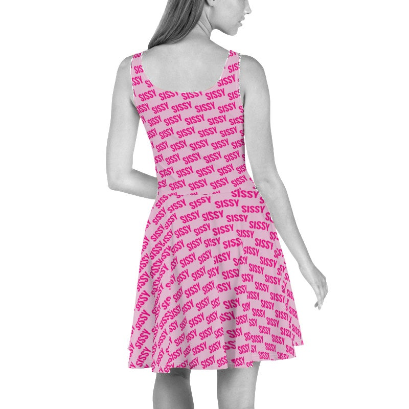 Sissy All over print Skater Dress Pink