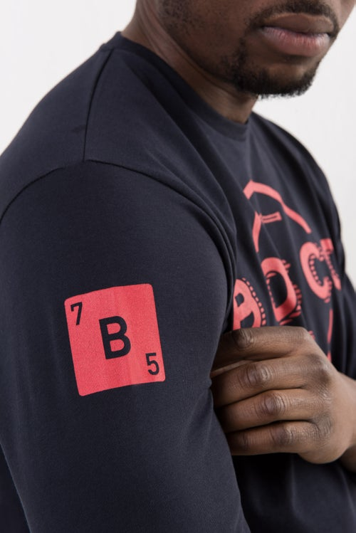 Image of BOSCO PARIS t-shirt long sleeves full logo rouge