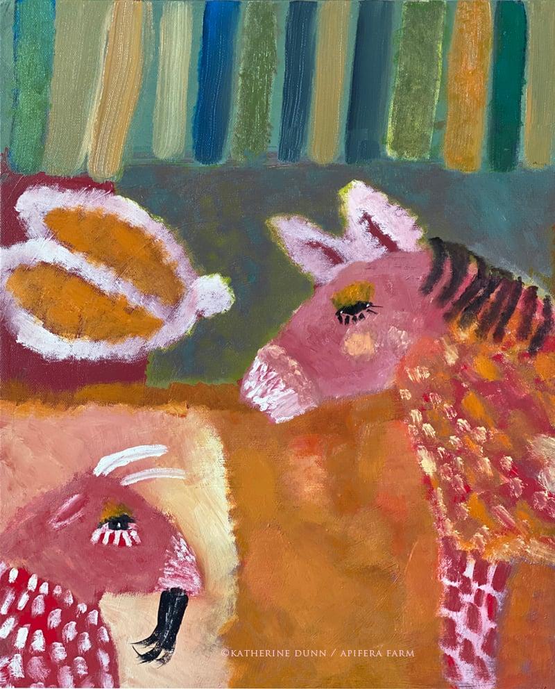 Image of Print: Pink Animals