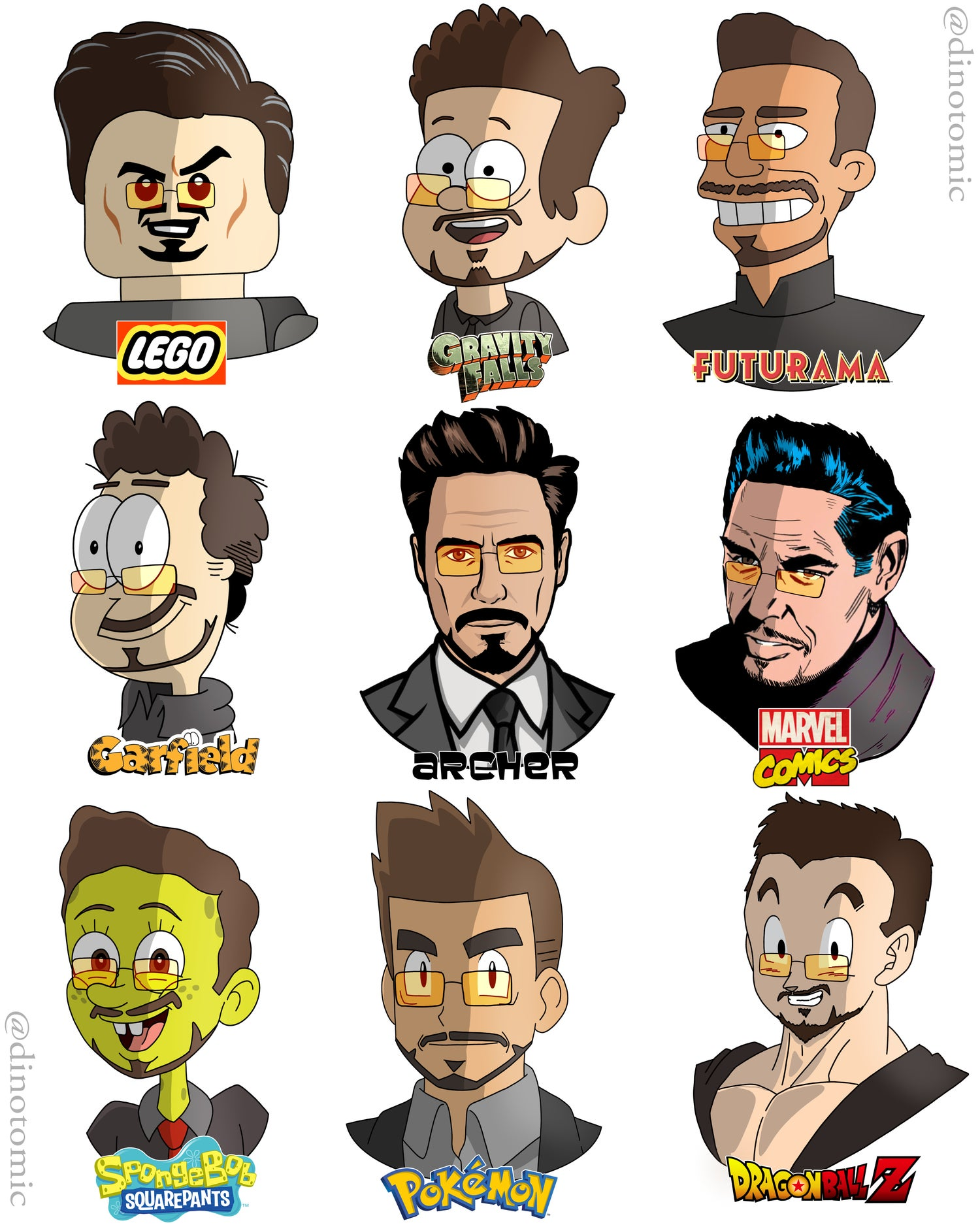 Image of #192 Iron Man in many styles