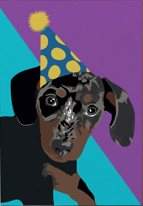Image of Party Dachshund Card