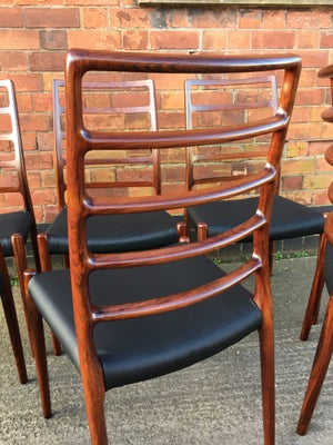 6 Niels Möller rosewood dining chairs