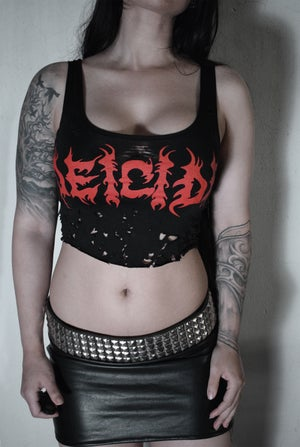Deicide shirt top cropped ⇹ shredded cropped FREE SHIPPING