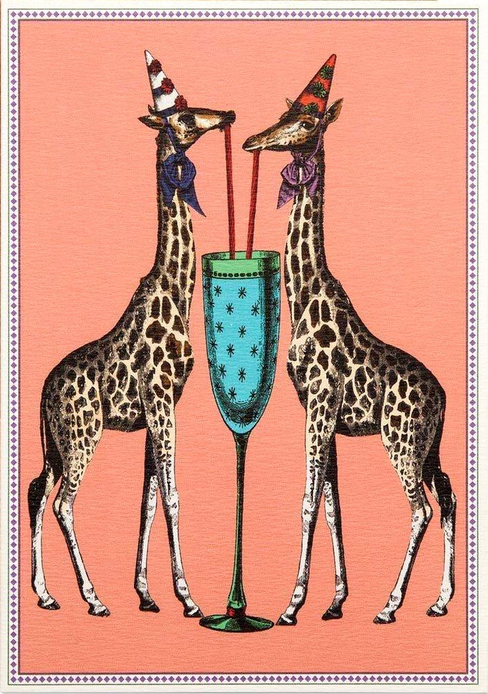 Image of Party Giraffes Card