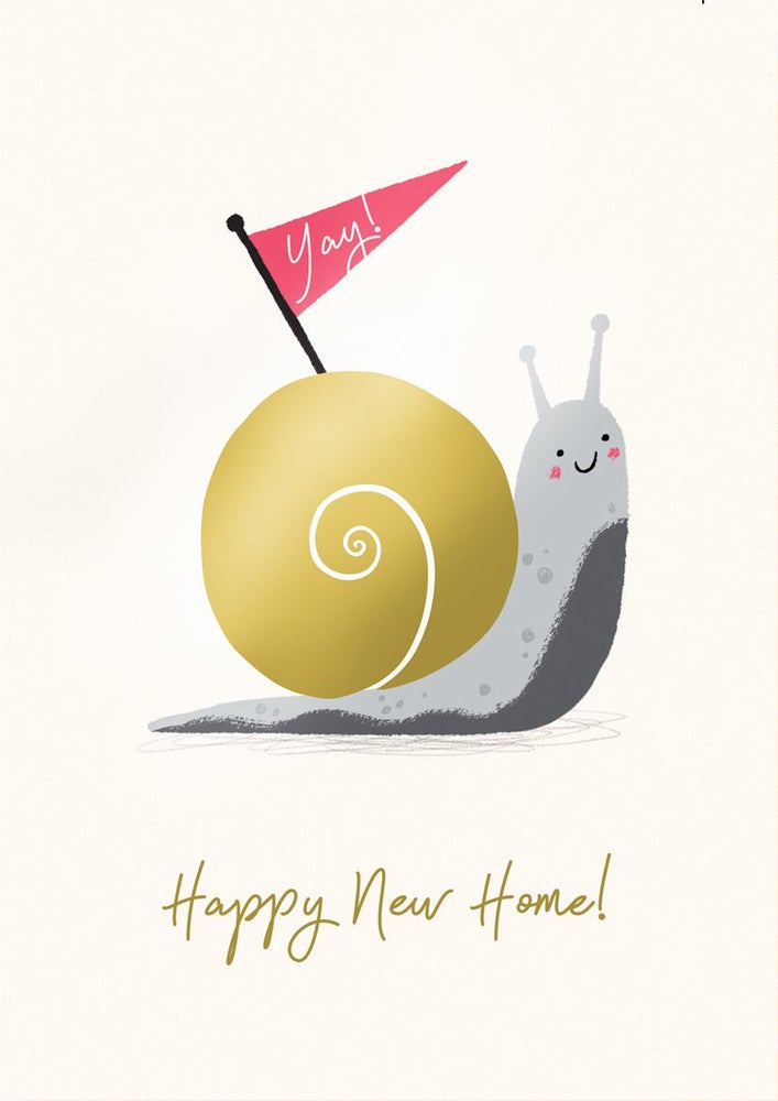 Image of New Home Snail Card