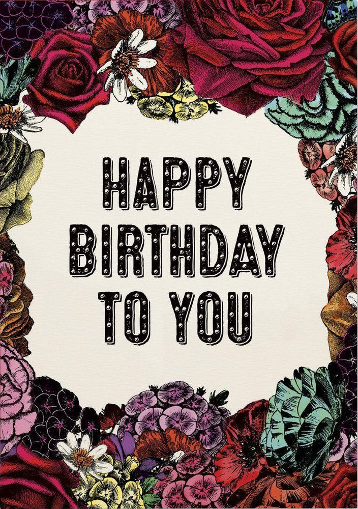 Image of Birthday Flowers Card