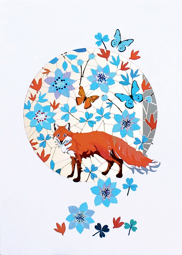 Image of Fox Paper Cut Card