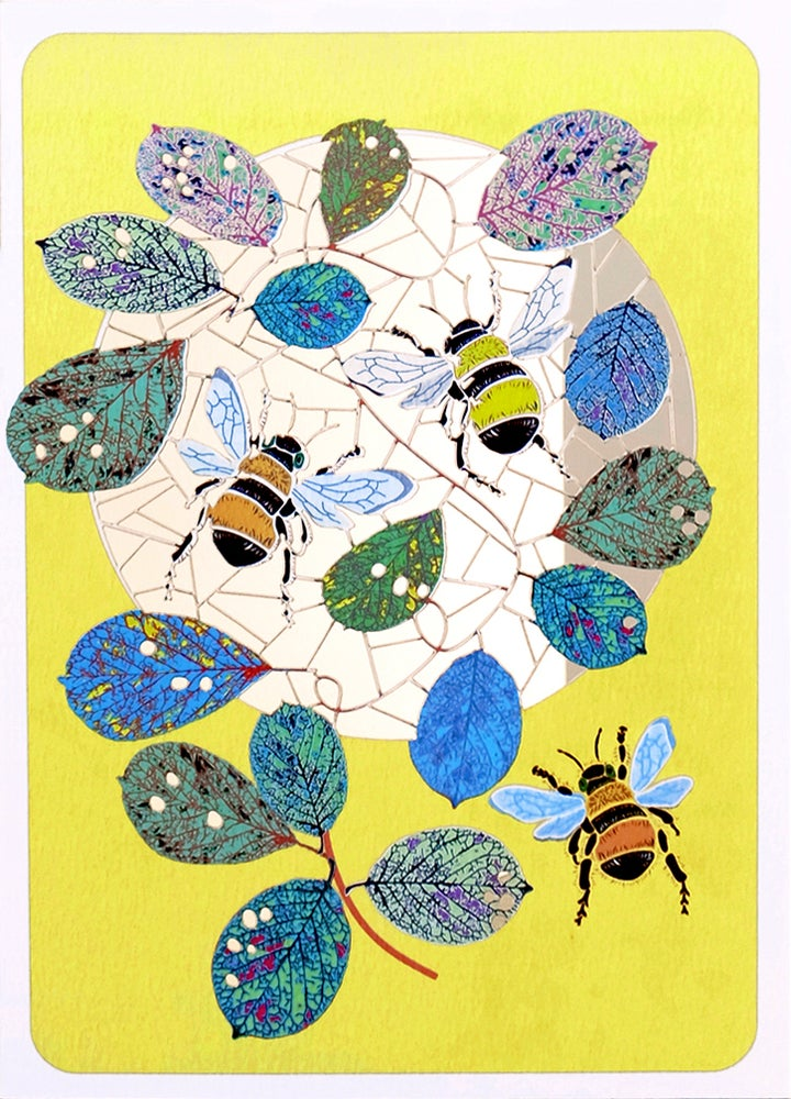 Image of Bees Paper Cut Card