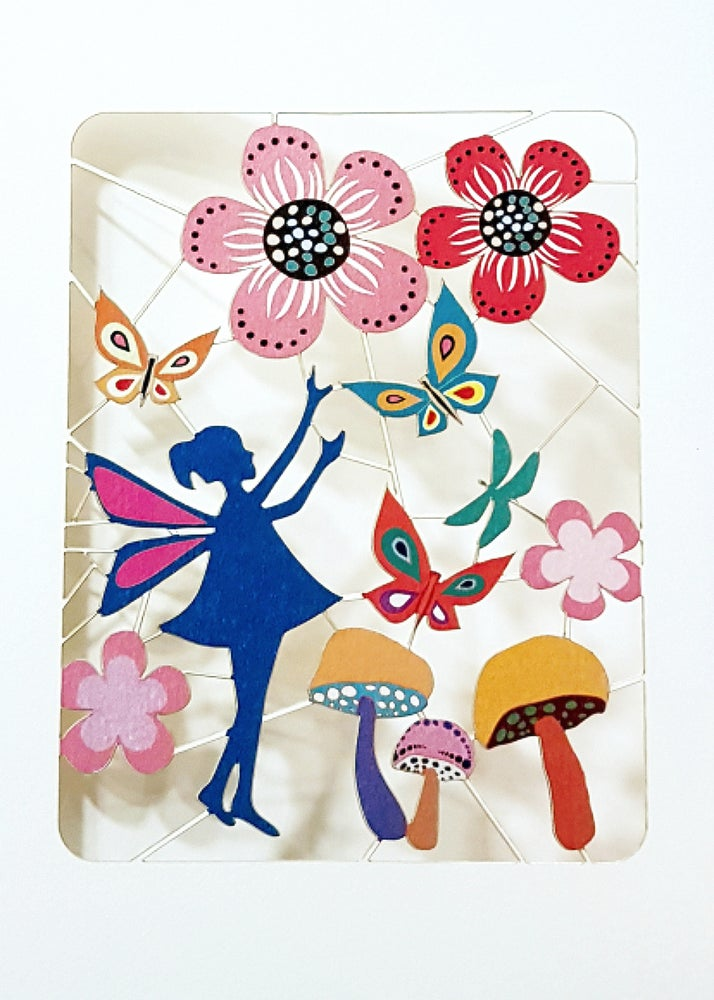 Image of Fairy Paper Cut Card