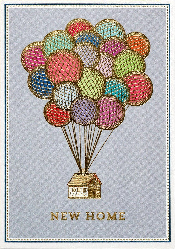 Image of New Home Balloons Card