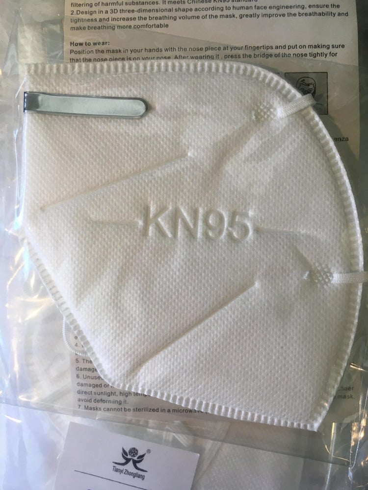 Image of Box of Disposable Masks - Medical and KN95 Respirator