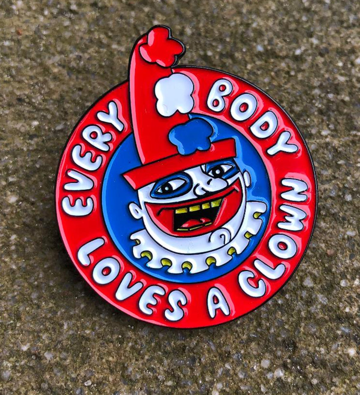 """Everybody Loves a Clown"" John Wayne Gacy/Pogo 1.75"" Enamel Pin"