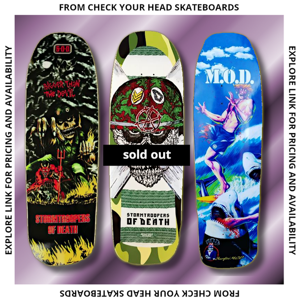 Image of Skateboard Decks from Check Your Head Skateboards