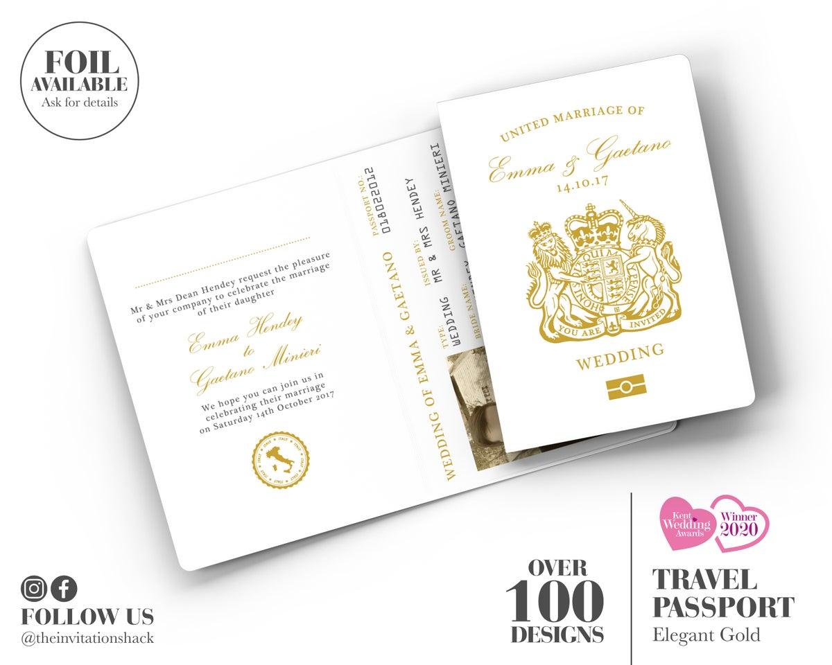 Elegant Gold Passport