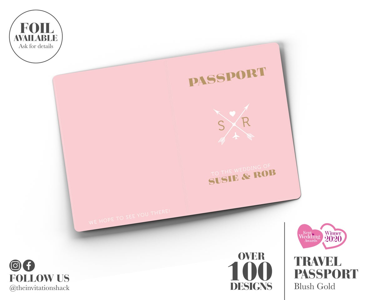 Blush Pink Passport