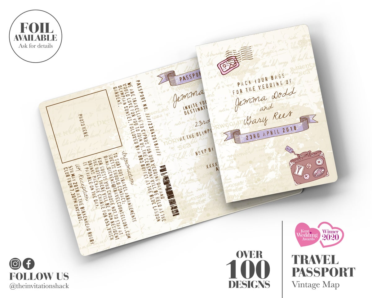 Vintage Map Passport