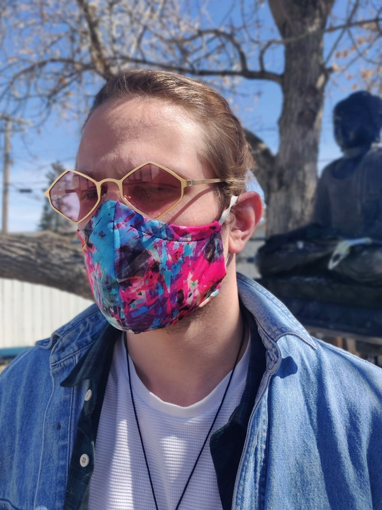 Image of Galactic Refraction Locally Made Cotton/Spandex Mask
