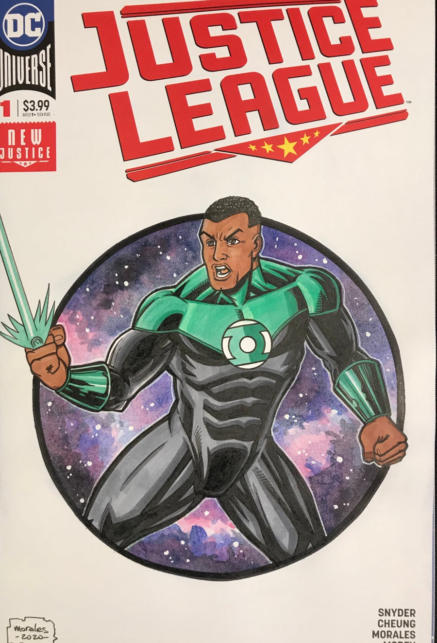 Image of Justice League Green Lantern Sketchcover