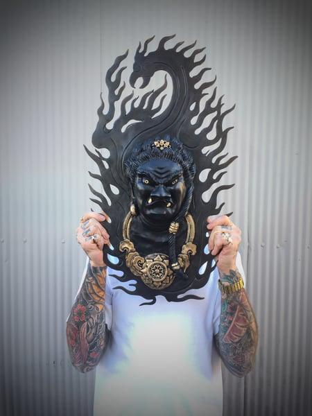 Image of Bronze Fudo Myoo Sculpture