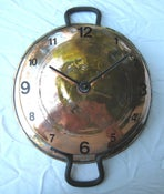 Image of Large copper pot clock
