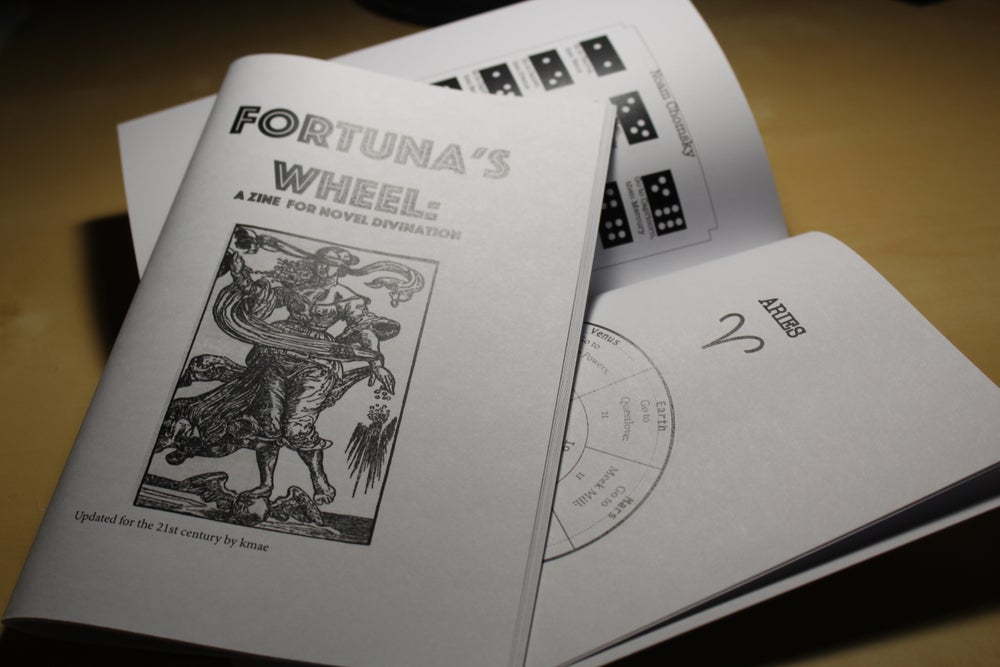 Image of Fortuna's Wheel: a zine for novel divination