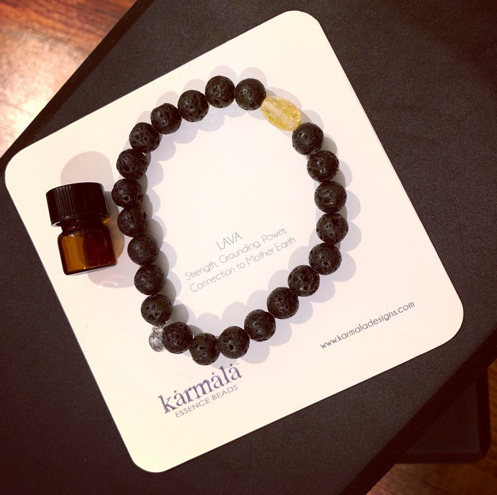 Image of Lava diffuser bracelet with essential oil vial