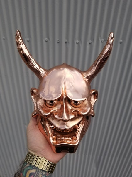 Image of Copper Electroplated Hannya