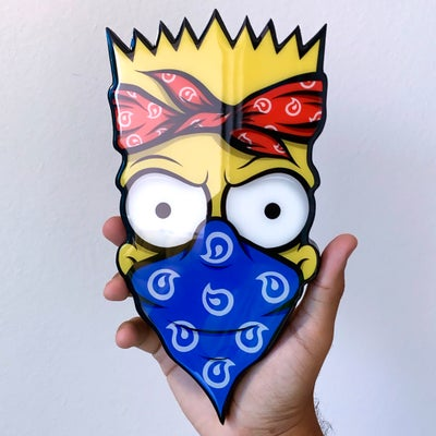 Image of 10inch RESIN COATED WOOD PRINT (BART) 48 HOUR PRE ORDER