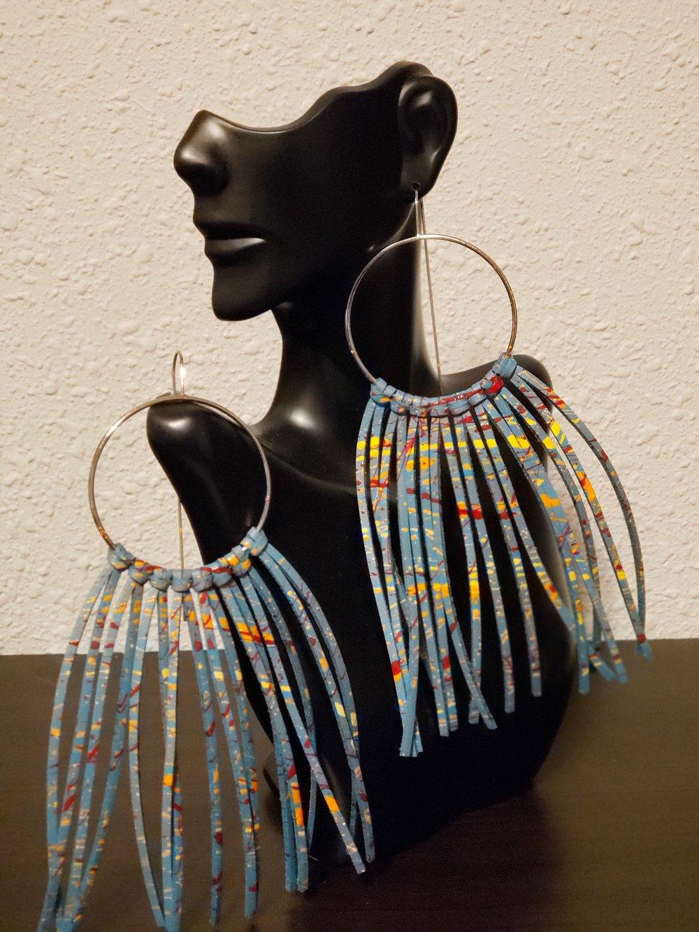 Multi Colored Lela Fringe Earrings
