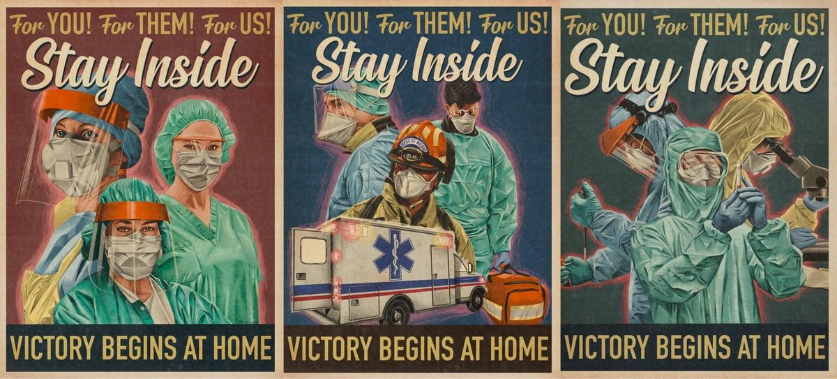 Positive Propaganda I, II, & III. Print Set.