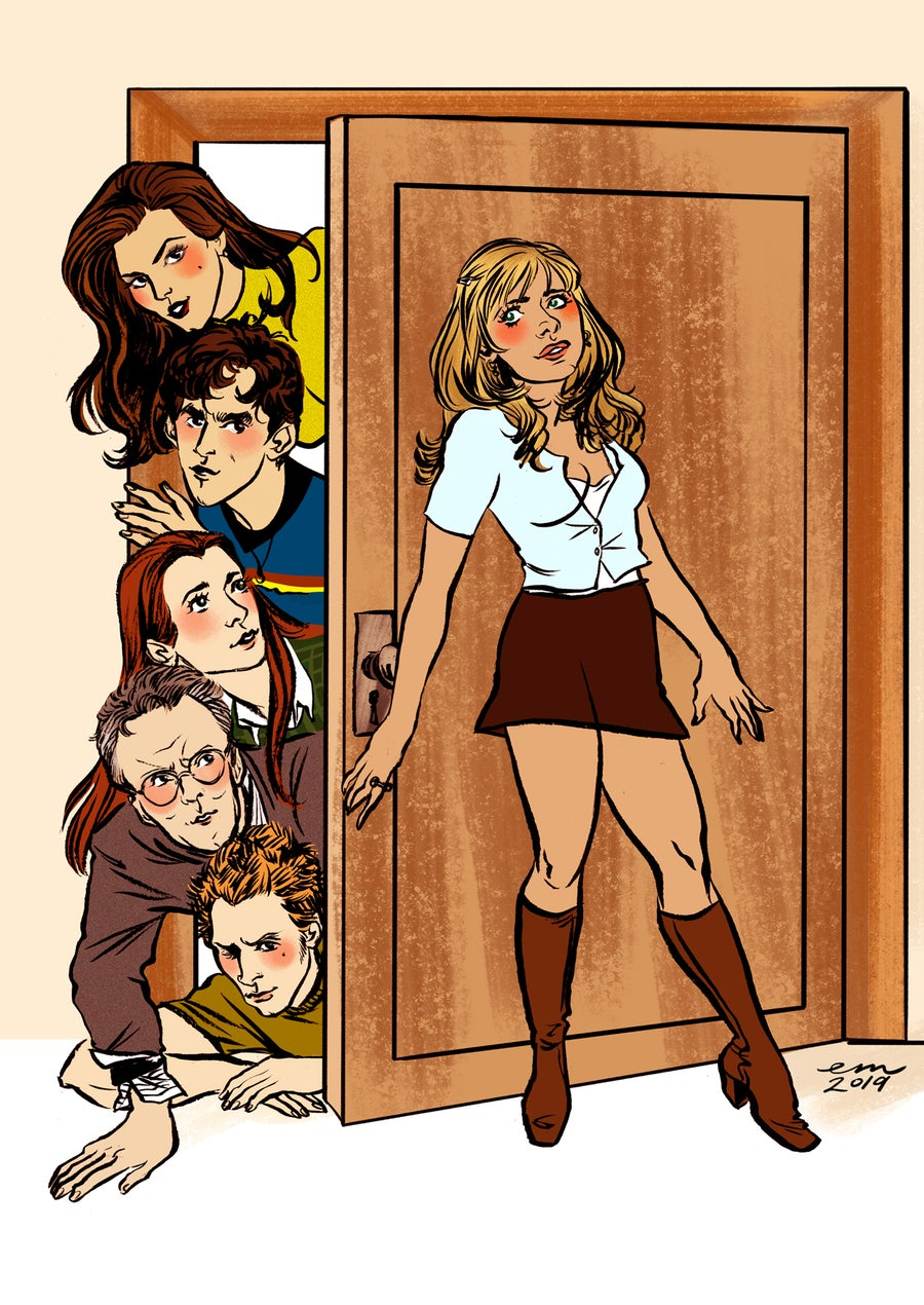 Image of BTVS Pin-up Postcard Pack