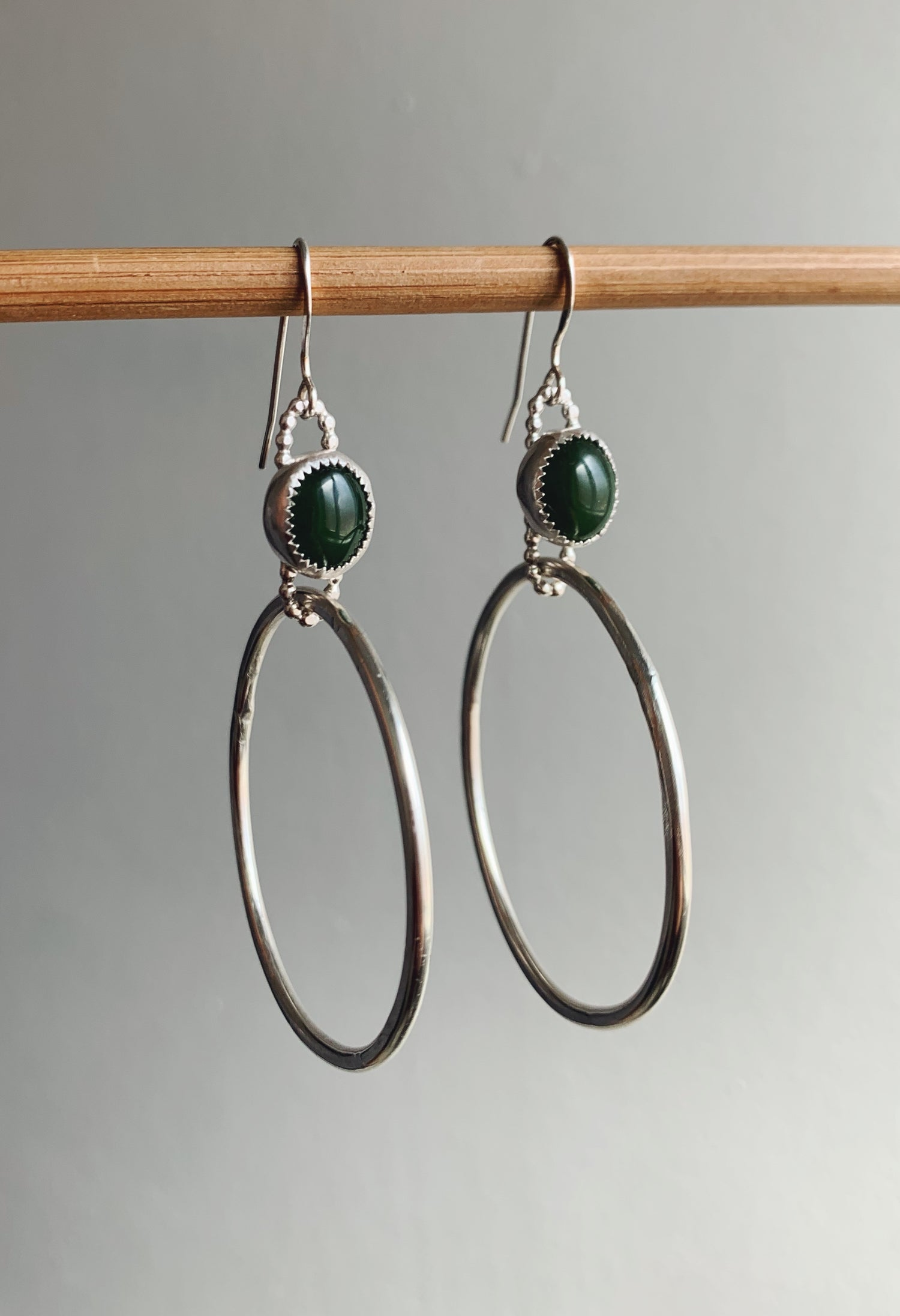 Image of Jade Hoops