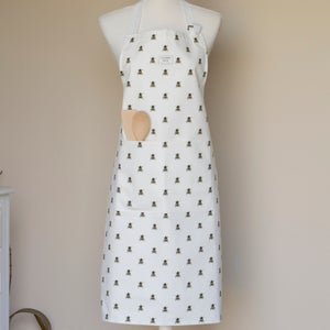 Image of Bee apron in white