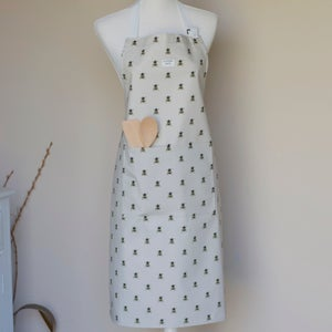 Image of Bee apron in grey