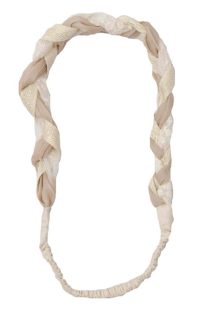 Image of restocked: SMALL PLEATED HEADBAND off white