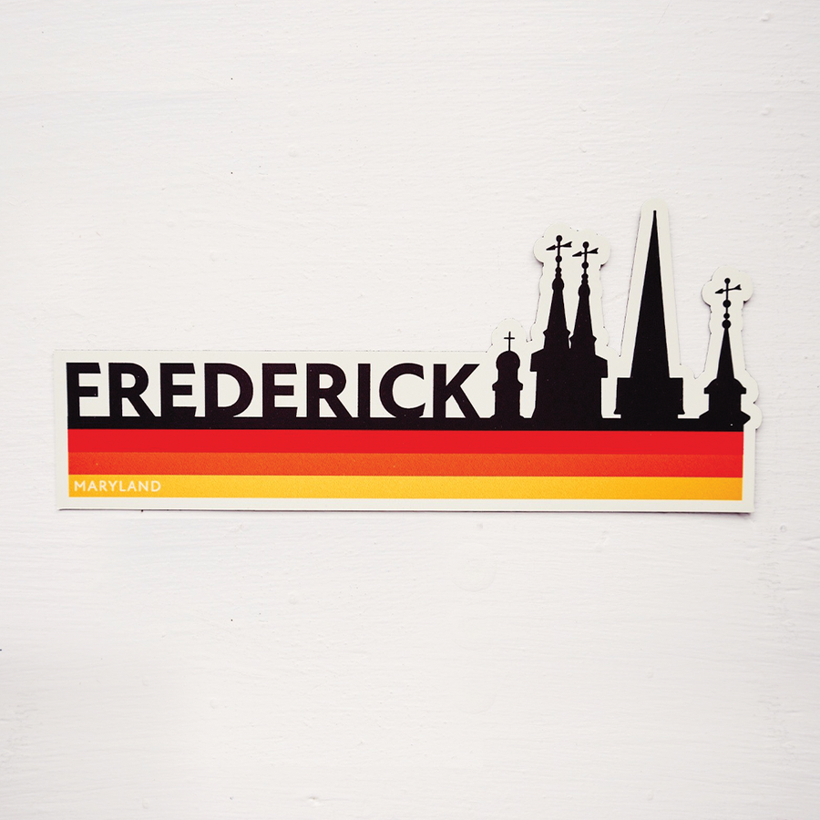 Image of Retro Frederick Magnet