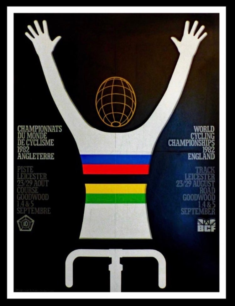 1982 UCI World Cycling Championships England poster