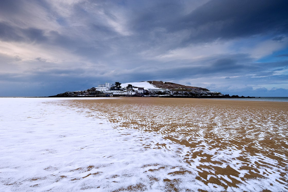 Image of Burgh Island in Snow