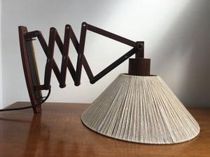 Danish scissor lamp