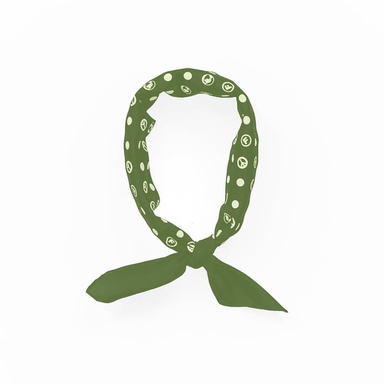 Image of OriginalFani®design World Peace Fan-dana™ (Olive)