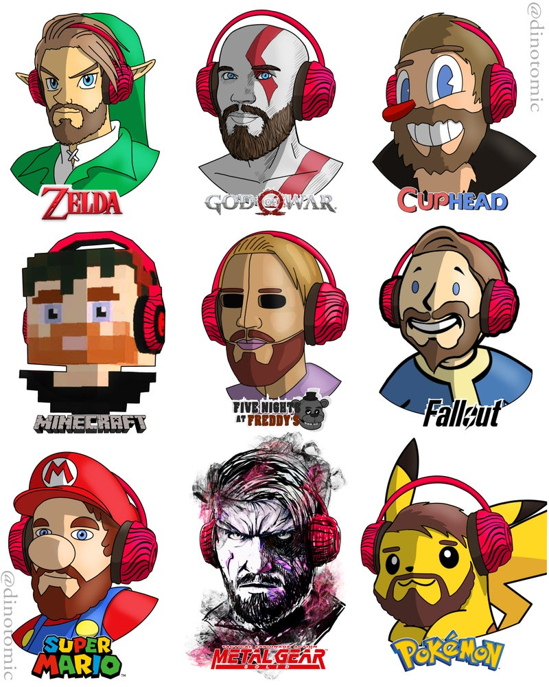 Image of #193 Pewdiepie in different styles