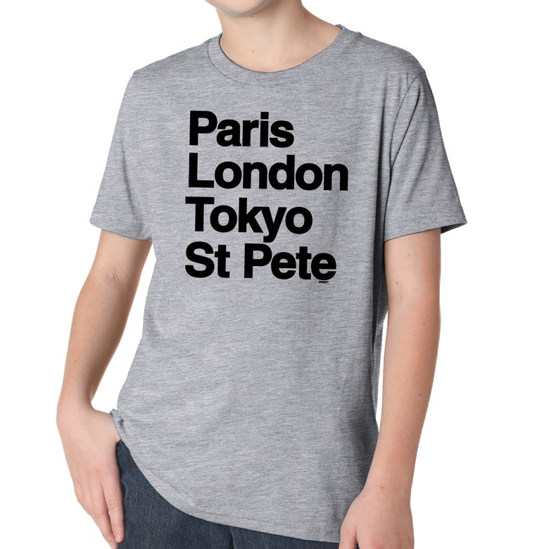 Image of WORLD TOUR Youth Heather Grey Crew