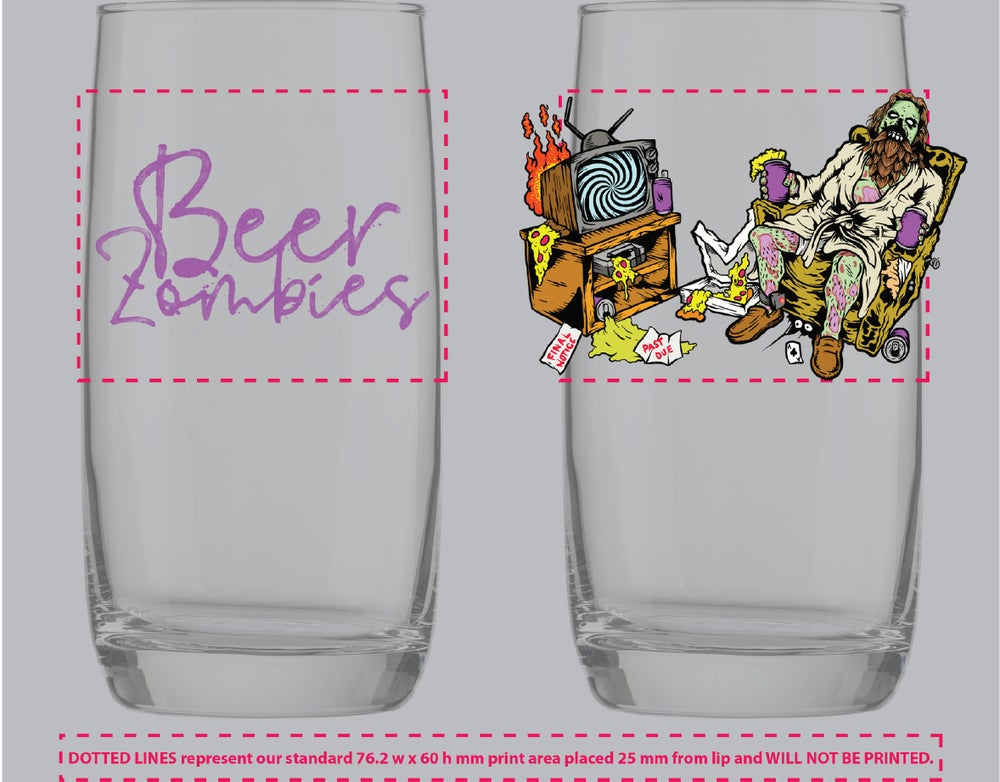 Image of Beer Zombies - Abide To Quarantine Glass